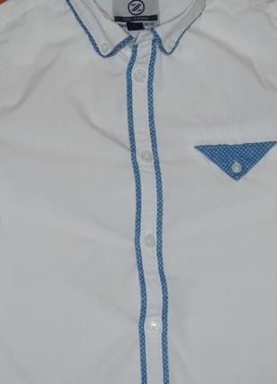 Белая рубашка с коротким рукавом, 7-8 лет, 128
