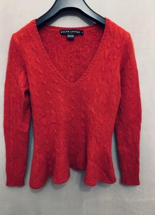 Кашемировый пуловер свитер ralph lauren