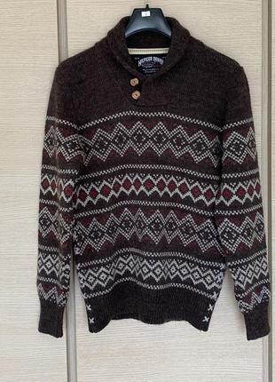 Пуловер шерстяной плотный мужской  tommy hilfiger размер l