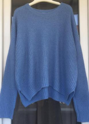 Cooperative стильный голубой свитер оверсайз с шерстью
