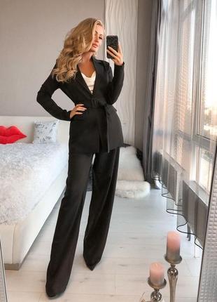 Стильный качественный костюм, брюки паллацо и  жакет