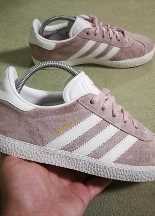 Adidas gazelle,кожаные кеды