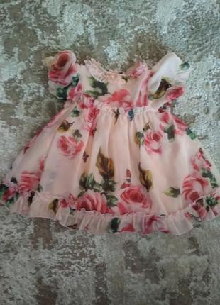 Платье детское на девочку 1-2 года