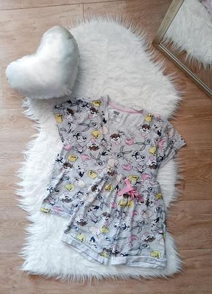 Пижамка футболка и шорты с кроликом банни