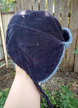 Осенняя шапка ушанка