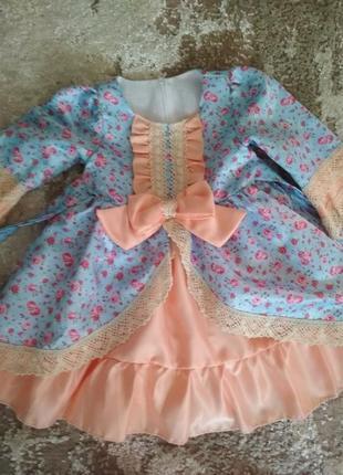 Красивенное платье на девочку от 1 до 2 лет