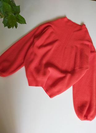 Красный оверсайз свитер vero moda размер м
