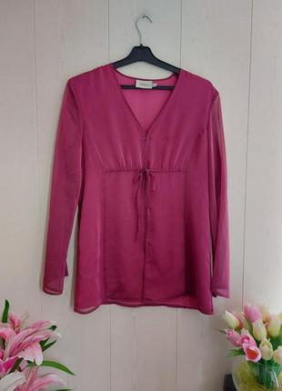 Стильная брендовая блуза цвета фуксия/красивая малиновая блуза