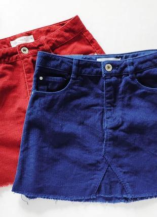 Вельветовая бордовая юбка  артикул: 7432