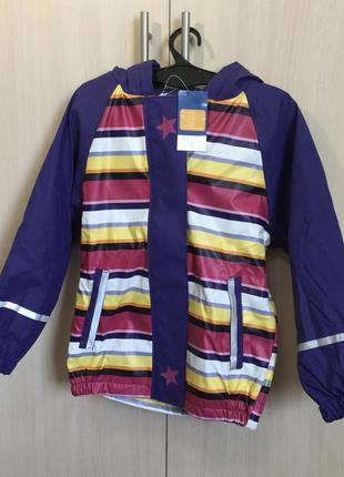 Куртка/дождевик  lupilu на флисе со светоотражателями р.110/116
