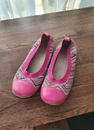 Туфли балетки италия кожа