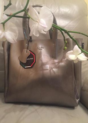 Вместительная сумочка селин, кожаная сумочка, сумка celin из натуральной кожи