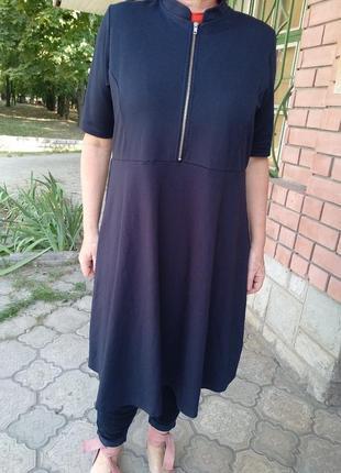 Стильное трикотажное платье, элегантноеr-42/56