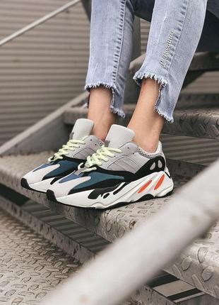 "Женские кроссовки ""adidas yeezy boost 700 wave runner"""