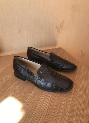 Кожаные туфли лоферы pertti palmroth