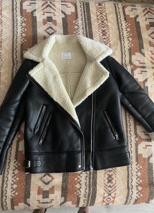 Дубленка . куртка авиатор