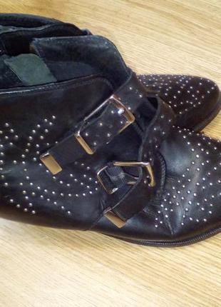 Ботильоны ботинки казаки кожа reserved