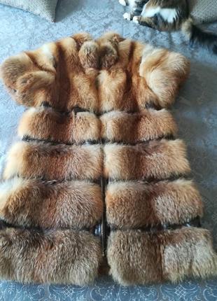 Меховая жилетка из лисы.одевала несколько раз.производство украина(не китай)