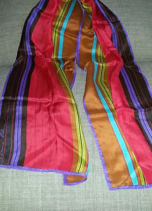 Шелковый брендовый шарф anne klein, оригинал,платок