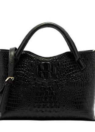 287796255a05 Кожа. италия. стильная кожаная сумка под крокодила, цена - 2045 грн ...