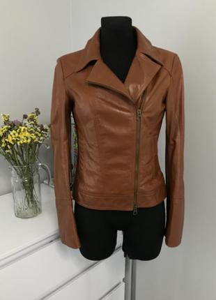 Куртка косуха из натуральной кожи_коричневая косуха, косуха как новая
