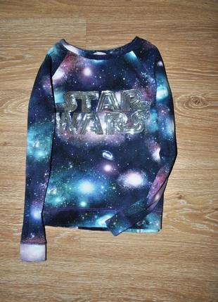 Яркий свитшот полувер с паетками от h&m star wars