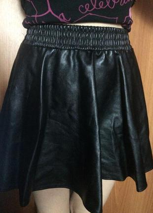 Спідниця,юбка-сонце екошкіра