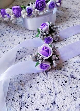 Обруч бутоньерка свадьба  свидетельница