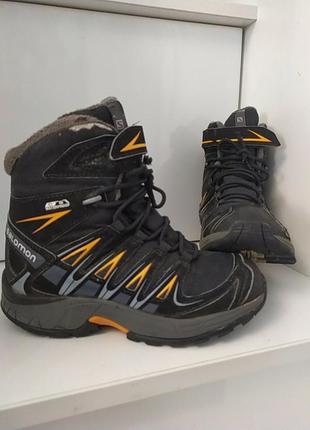 Фирменные зимние теплющие ботинки,дефект