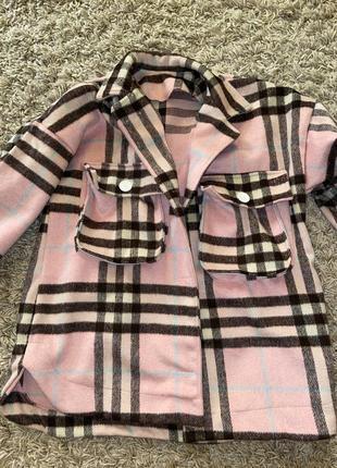 Новая тёплая рубашка-пальто на осень