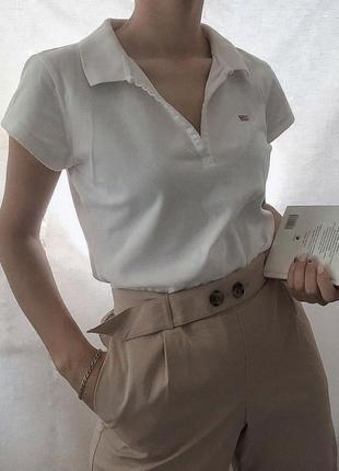 Поло футболка ralph lauren с декольте винтаж с логотипом спереди