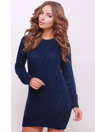 Стильное вязаное платье-туника