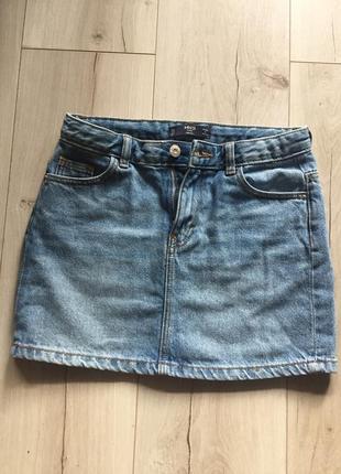 Юбка джинсовая , мини юбка , короткая юбка , летняя юбка