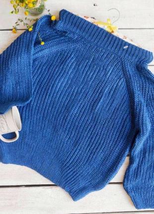 Оригинальный синий джемпер huadan!🦋