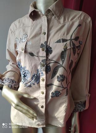 Катоновая легкая рубашка heine