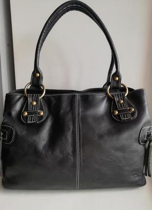 Шкіряна фірмова багатофункціональна англійська сумка gigi!!! оригінал!!