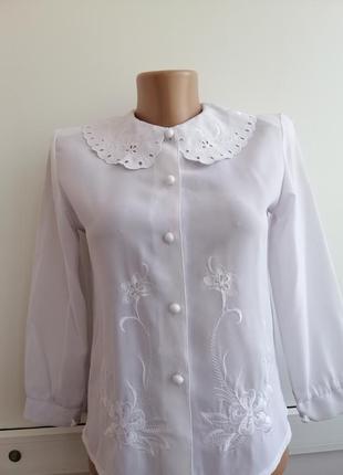 Блуза белая на девочку