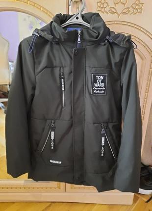 Демисезонная куртка цвет хаки