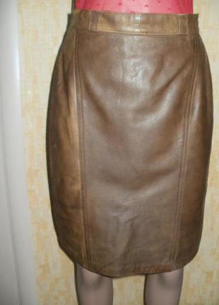 Прекрасная юбка из натуральной кожи верблюда градиент цвета кожаная юбка юбка