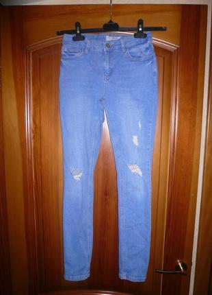Джинсы скинни рваные с дырками нью лук new look 158 см или s