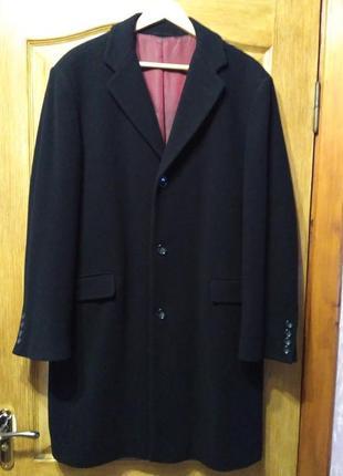 Barisal. шерсть и кашемир! мужское чёрное демисезонное пальто