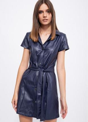 Красиве стильне плаття , сукня еко шкіра
