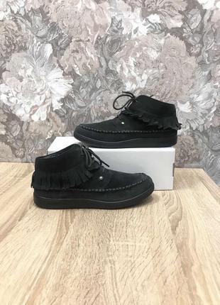Hotter 37,5-38 p кожа черевички ботинки сапоги туфли .