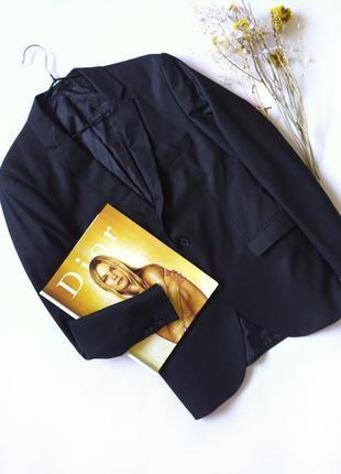Черный пиджак бойфренд оверсайз тренд jack &jones