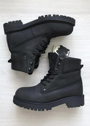 Ботинки кожаные натуральный нубук