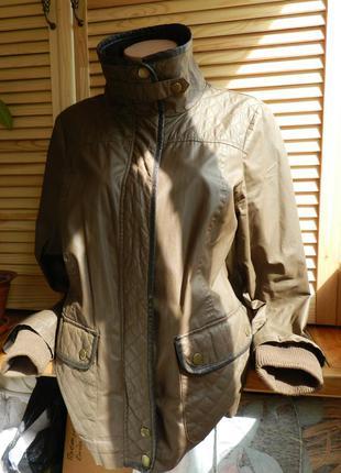 Бомбезная стёганная курточка с очень качественной эко-кожи next 16 размер