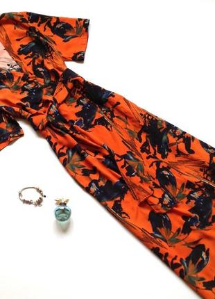 Платье миди на запах denim hunter