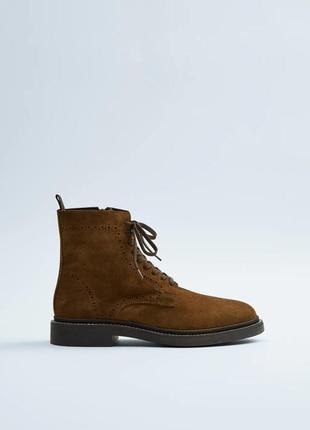100% кожа новые мужские ботинки zara 42 чоловічі черевики zara 42