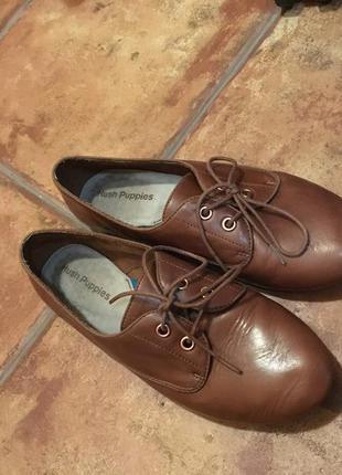 Очень крутые полностью кожаные туфли на шнурках