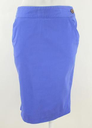 Синяя хлопковая юбка